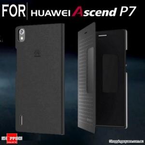 Huawei Ascend P7 View Flip Case Black Colour