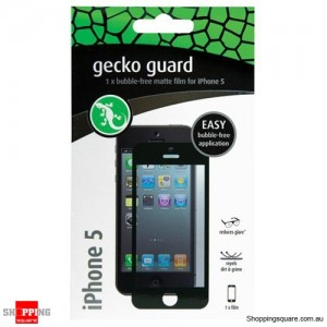 Gecko Guard Black Anti Glare Matte Bubble Free Screen Protector For iPhone 5/5S/5C