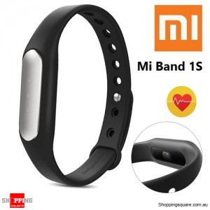 NEW 100% Genuine Xiaomi Mi Band 1S Light-sensitive Heart Rate Smart Wristband with White LED Black Colour