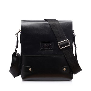 Men PU Business Shoulder Casual Briefcase Crossbody bag Black Colour