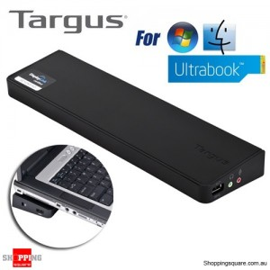 Targus Usb 3 Superspeed (TM) Dual Video Docking Station Compatible with Ultrabook/Laptop/PC