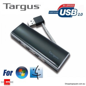 Targus USB 2.0 Travel 4 Port HUB for Notebook Computer
