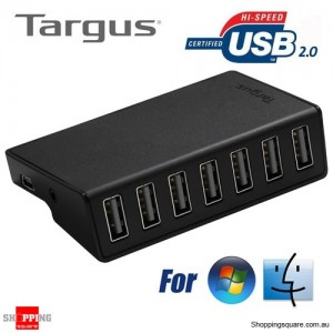 Targus 7-Port Powered Usb 2.0 Hub for Desktop Notebook Macbook