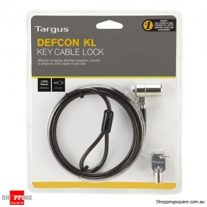 Targus Defcon KL Key Cable Lock ASP48AU for Kensington Slot Laptop Notebook Security