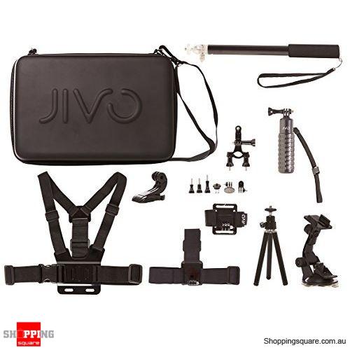 Jivo Go Gear Universal Action Camera Accessories Set
