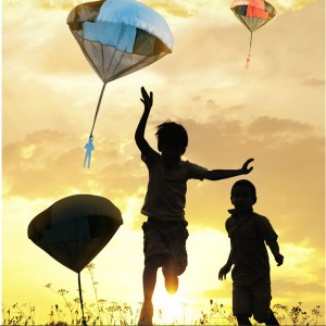 Hand Throwing Parachute Kite Outdoor Play Game Toy for Kids