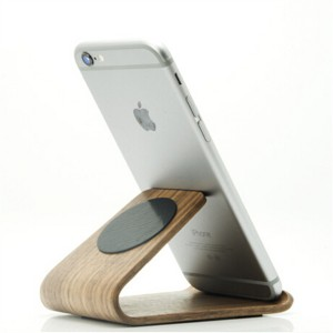 Multi-Function Wooden Micro Suction Desktop Car Mount Holder for Smartphone Tablet
