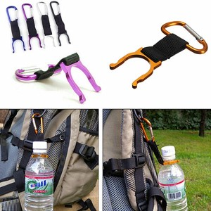 Water Bottle Carabiner Buckle for Camping Hiking Traveling Random Colour