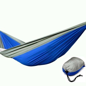 Double Person Portable Parachute Nylon Fabric Hammock for Camping Travelling