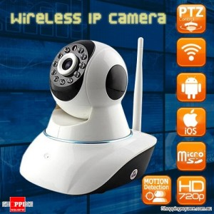 720P Wireless Wifi Network IP PTZ Surveillance CCTV Camera with Night Vision