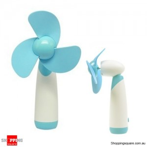 Portable Handheld Low Noise Soft Blades Mini Fan for Cooling Blue Colour