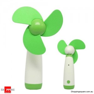 Portable Handheld Low Noise Soft Blades Mini Fan for Cooling Green Colour