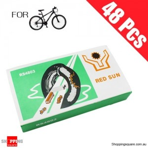 48 Pcs Bike Bicycle Tire Tyre Puncture Repair Rubber Patch with Glue