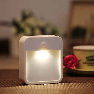 Battery Powered Wireless PIR Motion Sensor LED Night Light - Warm White Colour