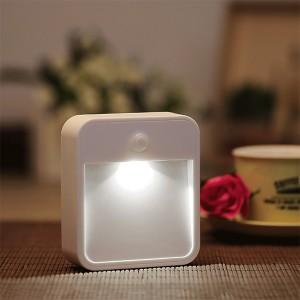 Battery Powered Wireless PIR Motion Sensor LED Night Light - Cool White Colour