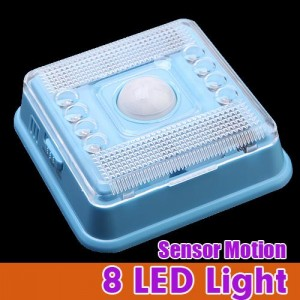 Wireless 8 LED Light with PIR Sensor & Motion Detection for Indoor Blue Colour