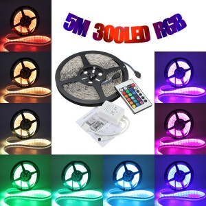5M LED 5050 Waterproof Strip Light with Remote Control RGB Colour for Home decoration