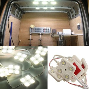 10x 4-LED Modules Indoor Light Car For LWB Vans Food Trucks