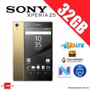 Sony Xperia Z5 32GB E6683 4G LTE Unlocked Smart Phone Gold