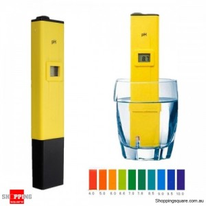 Digital pH Tester Meter Pocket Pen for Acidic Alkaline Base Water Aquarium Pool