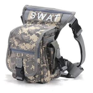 Multifunction Military Style Leg Thigh Bag Pack for Outdoor Hiking & Hunting ACU Camouflage Colour