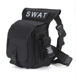 Multifunction Military Style Leg Thigh Bag Pack for Outdoor Hiking & Hunting ACU Black Colour