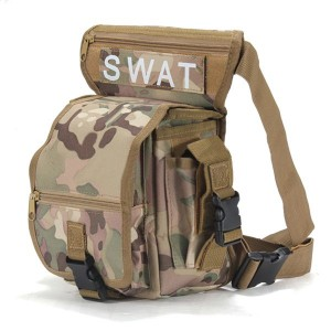 Multifunction Military Style Leg Thigh Bag Pack for Outdoor Hiking & Hunting CP Camouflage Colour