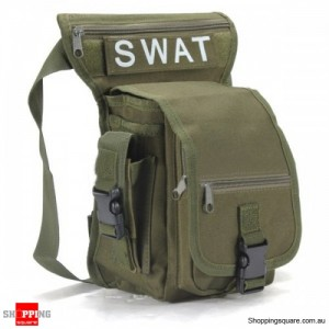 Multifunction Military Style Leg Thigh Bag Pack for Outdoor Hiking & Hunting Green Colour