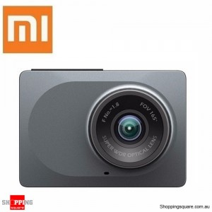 "Xiaomi Yi 2.7"" 165 Degree DashCam DashBoard Camera Built-In WiFi 1080p Car DVR Recorder ADAS Gray Colour"