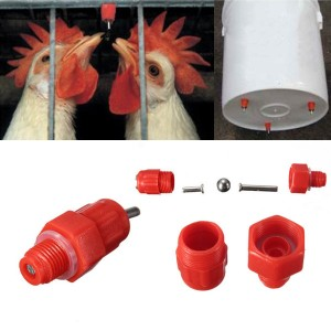 25 PCS Poultry Nipple Valves Water Drinker Feeder for Pet Bird Chicken Duck