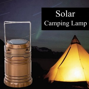 Portable LED Light Solar Powered/USB Phone Charging Outdoor Emergency Camping Lamp