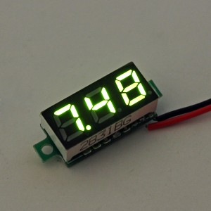 0.28 Inch 2.5V-30V Mini Digital Voltmeter Voltage Tester Meter Green Colour