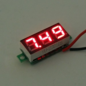 0.28 Inch 2.5V-30V Mini Digital Voltmeter Voltage Tester Meter Red Colour