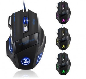 Optical Gaming Mouse 7-Buttons 3200DPI LED Light USB-Wired Gamer DOTA2 LoL WoW