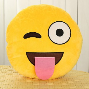 Emoji Smiley Emoticon Yellow Round Plush Soft Doll Toy - Expression Tease