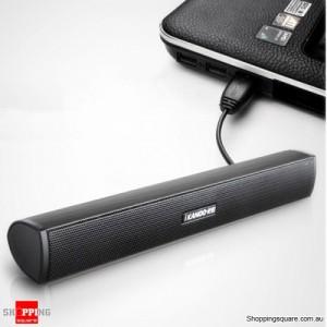 Portable Stereo USB Sound Bar Speaker  for Laptop/Tablets/PC Black Colour