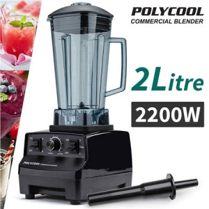 PolyCool Commercial Blender 2L - Black
