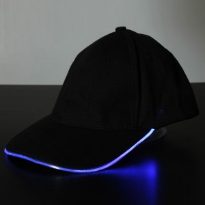 Men's Cap with Glowing Light LED for Disco Party Dance Celebration Sports Outdoor Blue Colour