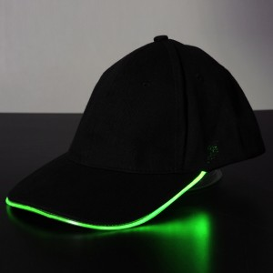 Men's Cap with Glowing Light LED for Disco Party Dance Celebration Sports Outdoor Green Colour