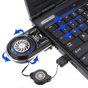 Handy Portable Heat Extracting Cooling Fan USB LED for Laptop/Notebook