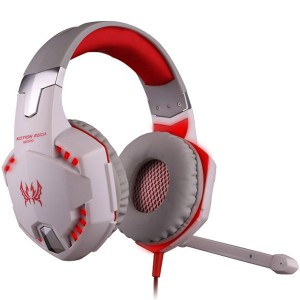 Pro Gamer USB LED Headset Headphone Red Colour + Mic LoL Starcraft DOTA2 Diablo WoW