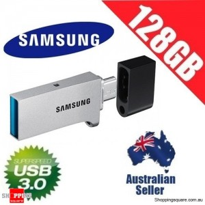 Samsung Flash Drive DUO 128GB USB 3.0 Up to 130MB/s Micro USB Smartphone PC Tablet OTG