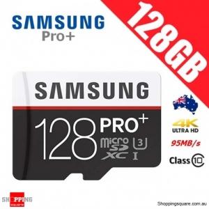 Samsung 128GB PRO Plus microSDXC TF Memory Card Class 10 95MB/s FHD 4K UHD