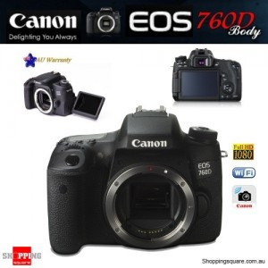 Canon EOS 760D 24.2MP DSLR EF EF-S Full HD Wi-Fi Camera Body