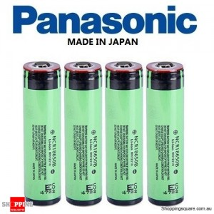 4X Panasonic NCR 18650B 3400mAh Rechargeable Lithium Battery Protected