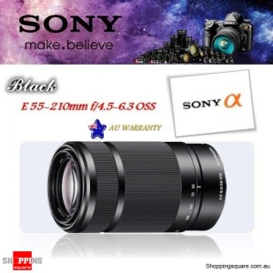 Sony E 55-210mm F4.5-6.3 OSS Camera SLR IS E-mount Lens SEL55210 Black