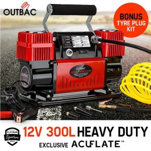 Outbac Air Compressor 12v 300L 4x4 Portable Car Compressor - OTB700