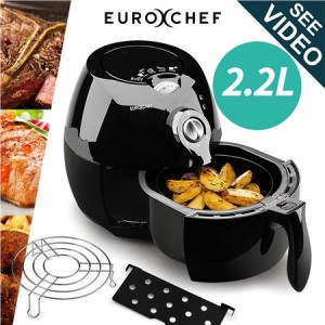 EuroChef Air Fryer 2.2L - Black