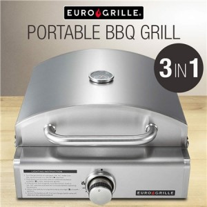 Euro-Grille Portable 3 in 1 Pizza Oven