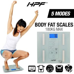 HPF Digital Bathroom Scales 180kg - White